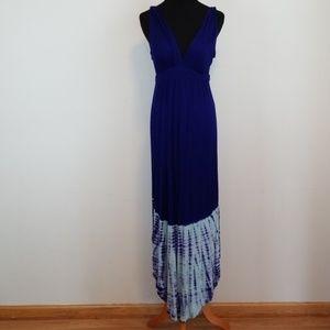 Gypsy 05 blue tie dye Maxi dress size small